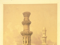 Mosques in ruins in the desert west of the citadel-David Roberts