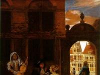 Musical Party in a Courtyard by Pieter de Hooch