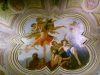 Palazzo fenzi sala 1 sebastiano ricci tela sul soffitto, amore punito 02