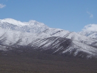 Telescope Peak (Berg), Panamint Range (Gebirgskette), Death-Valley-Nationalpark, USA.