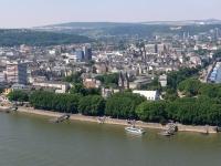 Blick von der Festung Ehrenbreitstein auf Koblenz