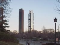 Torre Sacyr Vallehermoso und Torre Caja Madrid.
