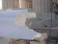 Parthenon während Arbeiten der Rekunstruktion (Athen)