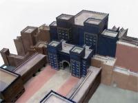 Modell des gesamten Tores von Ishtar.