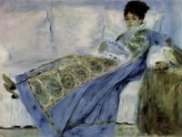 Pierre Auguste Renoir: Madame Monet auf dem Diwan (1872)