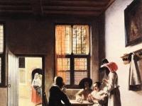 Pieter de Hooch - Cardplayers in a Sunlit Room