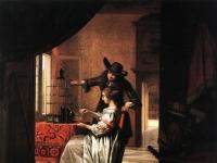 Pieter de Hooch - Couple with Parrot