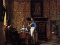 Pieter de Hooch - Interior with Figures