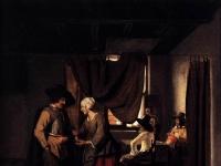 Pieter de Hooch - Paying the Hostess