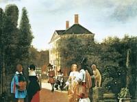 Pieter de Hooch - Skittle Players in a Garden