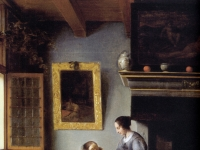 Pieter de Hooch - Woman hands over money to her servant - 1670