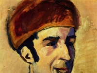 August Macke: Porträt des Franz Marc (1910)