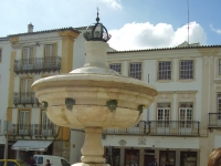 Praca do Giraldo Fountain in Evora Portugal