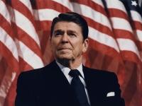 President Reagan speaking in Minneapolis 1982