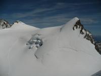 Zumsteinspitze (links), Signalkuppe (rechts) und Dufourspitze (ganz links)