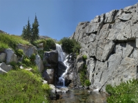 Pyramid Drainage waterfall