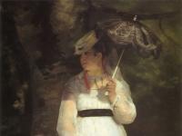 Pierre-Auguste Renoir: Lise mit dem Sonnenschirm, 1867