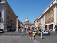Roma_Via_della_Conciliazione_BW_1