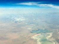 Salzsee in der Gobi-Wüste