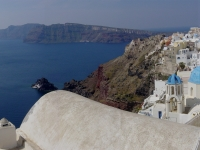 Panorama of Santorini und Thera caldera