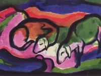 Franz Marc: Schafe