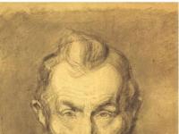 Schiele - Bildnis eines baertigen Mannes