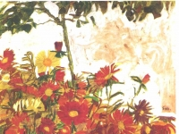Schiele - Blumenfeld