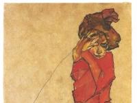 Schiele_-_Kniendes_Maedchen_in_orangerotem_Kleid