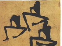 Schiele - Komposition dreier Maennerakte