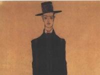 Schiele - Modeentwurf dunkler Anzug