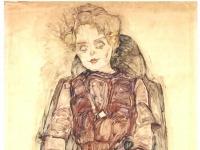 Schiele - Sitzende Frau