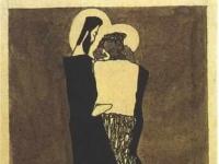 Schiele - Zwei Maenner mit Nimben