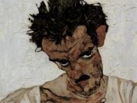 Selbstporträt mit gesenktem Kopf