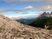 Sella, von Marmolada aus gesehen (Dolomiten, Norditalien)
