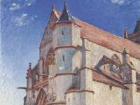 Sisley_-_Die_Kirche_von_Moret_im_Morgengrauen