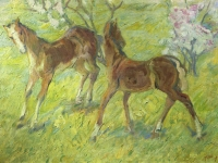 Franz Marc: Springende Fohlen