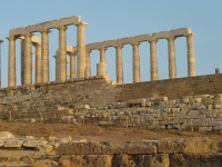 Ruine des Poseidontempels, Kap Sounion, Griechenland