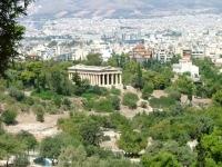 Athen: Tempel des Hephaistos, Sicht aus der Agora