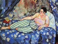 The Blue Room by Suzanne Valadon