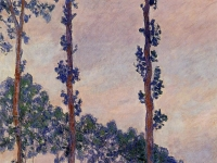 Three Trees in Grey Weather 1891 Claude Monet