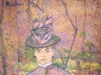 Toulouse-Lautrec - Potrait de Suzanne Valadon, 1885