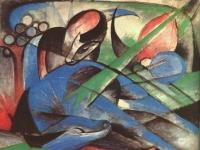 Franz Marc: Träumendes Pferd