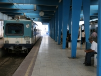 Tunis Marine Station with train
