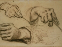 Van_Gogh_1885-03--1885-04,_Nuenen_-_Study,_Three_Hands,_Two_Holding_Forks_F_1161r_JH_746