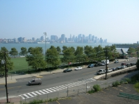 View of the New York City skyline as seen from Stevens Institute of Technology.