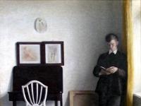 Interieur mit Jumgem Mann beim Lesen (1898)