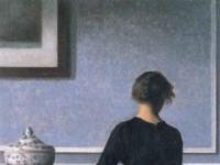 Interieur mit Rueckenansicht einer Frau (1903-1904)