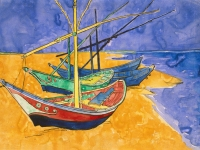Vincent_van_Gogh_-_Boats_at_Saintes-Marie_watercolour