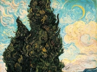 Vincent van Gogh: Zypressen, 1989