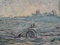 WLANL_-_jankie_-_Ondergesneeuwd_veld_met_een_eg_(naar_Millet),_detail,_Vincent_van_Gogh_(1889)